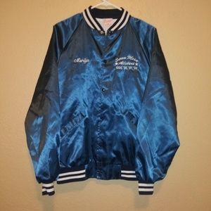 Medium VTG faux satin jacket womens